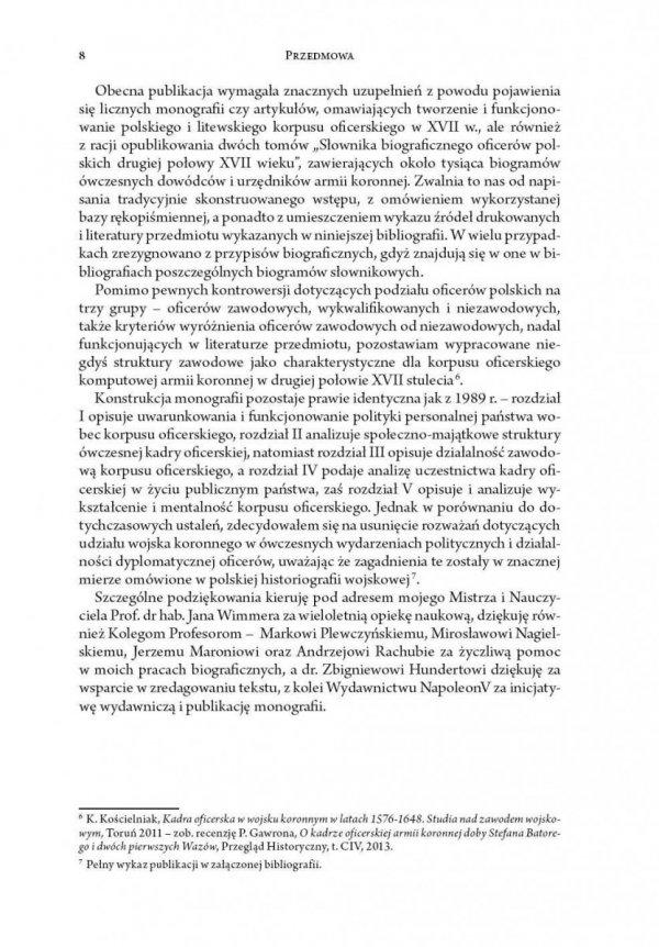 Korpus oficerski wojska polskiego w drugiej połowie XVII wieku
