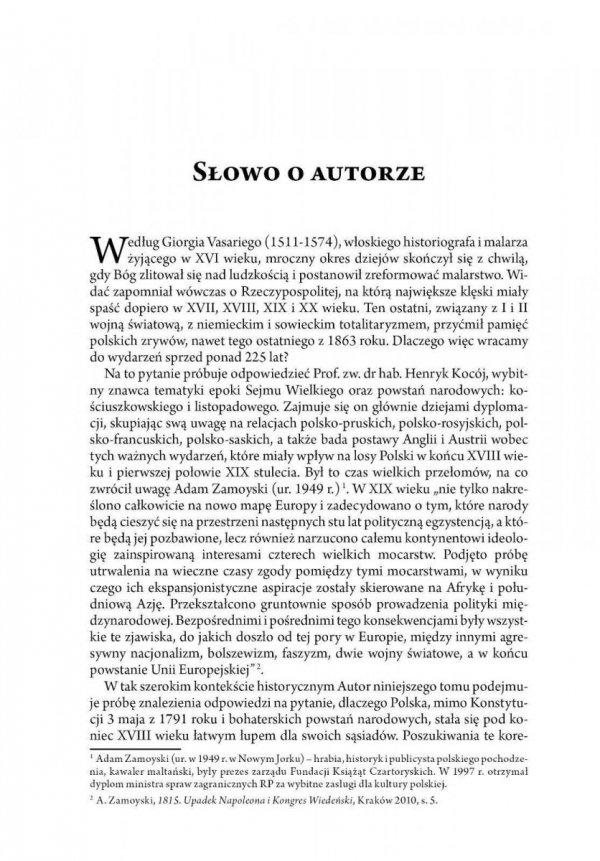 Od Konstytucji 3 maja i insurekcji kościuszkowskiej do powstania listopadowego tom I