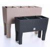 rgshop garten blumentopf blumenkasten mit f en rattan 800 anthrazit. Black Bedroom Furniture Sets. Home Design Ideas