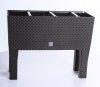 rgshop garten blumentopf blumenkasten mit f en rattan. Black Bedroom Furniture Sets. Home Design Ideas