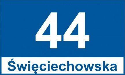 Tablica adresowa dla Leszna 40 cm x 24 cm