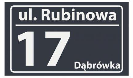 Tablica numer domu 30/18 cm (odblask)
