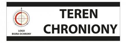 Tablica teren chroniony 35/12cm (odblask)