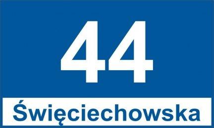 Tablica adresowa dla Leszna 30 cm x 18 cm