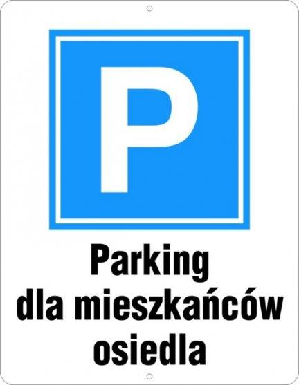 Parking dla mieszkańców osiedla