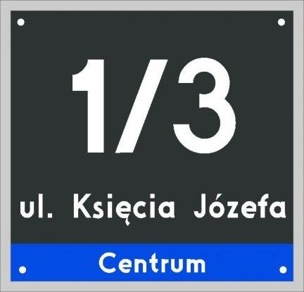 Tablica adresowa Poznań 23 cm x 22 cm