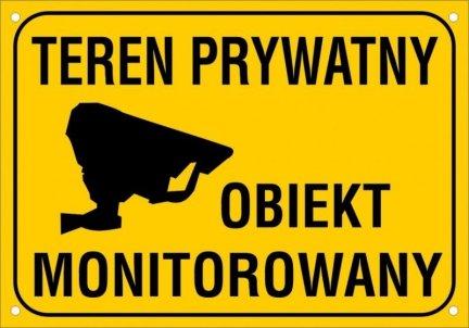 Teren prywatny Obiekt monitorowany 40 cm x 30 cm (odblask)