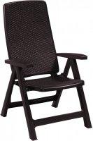 Krzesło ogrodowe rozkładane MONTREAL brąz