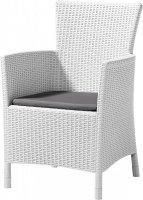 Krzesło ogrodowe rattanowe MONTANA białe/c.popiel