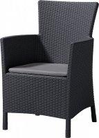 Krzesło ogrodowe rattanowe MONTANA antracyt/popiel