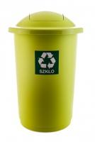 Kosz do segregacji odpadów TOP BIN 50L zielony