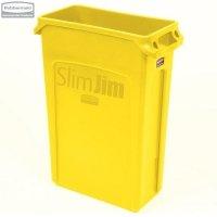 Kosz Slim Jim® With Venting 87L Yellow