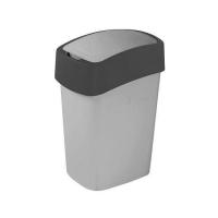 Kosz na śmieci 25L Flip Bin srebrny/grafit