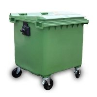 Pojemnik na odpady1100L z pokrywą zielony