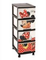 Regał z szufladami 4 x 10L Minnie Mouse