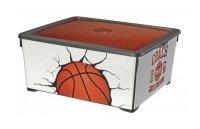 Pojemnik TEXTIL 18,5L Basketball