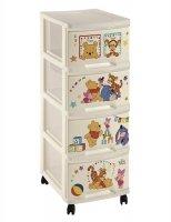 Regał z szufladami 4 x 10L Winnie the Pooh