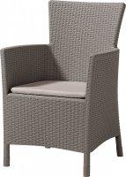 Krzesło ogrodowe rattanowe MONTANA cappucino/piasek