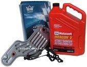 Filtr oleju oraz syntetyczny olej Motorcraft MERCON V automatycznej skrzyni biegów 5R55W Lincoln Aviator