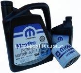 Oryginalny MOPAR filtr oraz mineralny olej 5W30 Mitsubishi Raider 4,7 V8