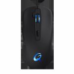 Mysz QPAD DX-5 - Gaming Laser czarna RGB 2500DPI, Regulowany Ciężar