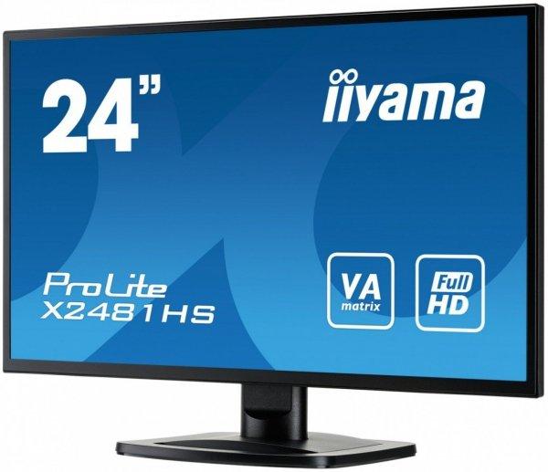 """IIYAMA 24"""" X2481HS-B1 VA FullHD Głośniki"""