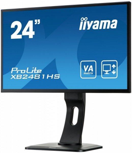 IIYAMA XB2481HS-B1 24''  SLIM VA HDMI DVI PIVOT Głośniki