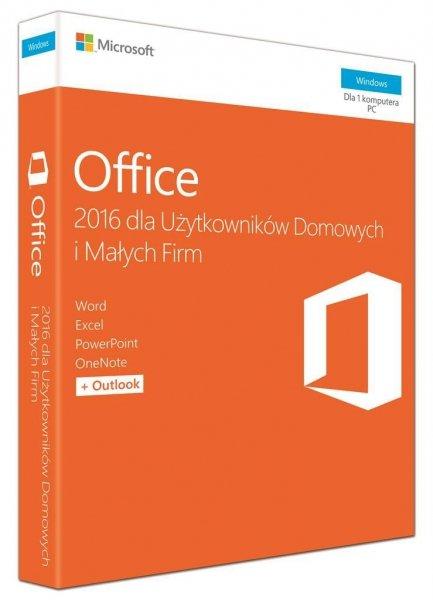 Microsoft Office 2016 PL dla Użytkowników Domowych i Małych Firm T5D-02786