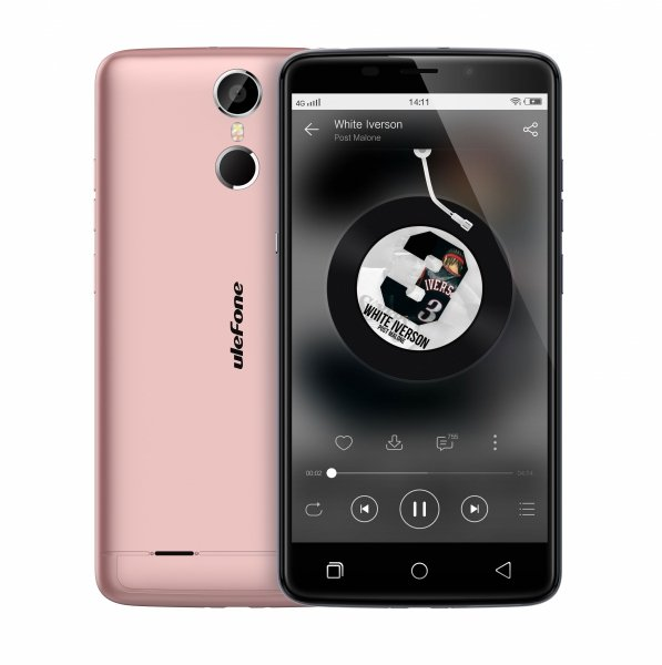 """Smartfon Ulefone Vienna 32GB LTE FHD 5.5"""" (różowy) POLSKA DYSTRYBUCJA Zestaw etui+szkło"""