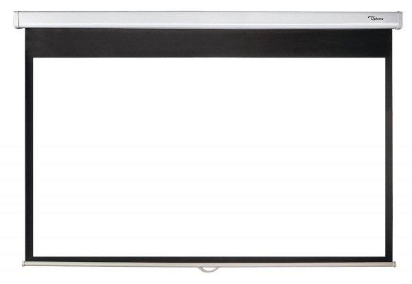 """Optoma Ekran reczny 16:9, 92"""" DS-9092PWC, Bialy Matt, Obraz 2030 x 1145 mm"""