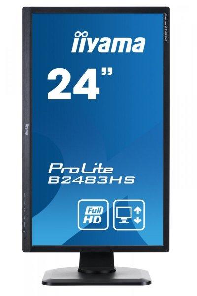"""IIYAMA 24"""" B2483HS-B1 FulHD PIVOT 2ms"""
