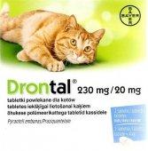 Bayer Drontal dla kotów 2tabl. - środek przeciwpasożytniczy