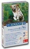 Advantix Spot-On dla psa 25-40kg - roztwór przeciwko pchłom i kleszczom - 4 pipety w opakowaniu