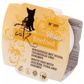 Catz Finefood Mus N.207 Drób/Tuńczyk/Krewetki tacka 100g
