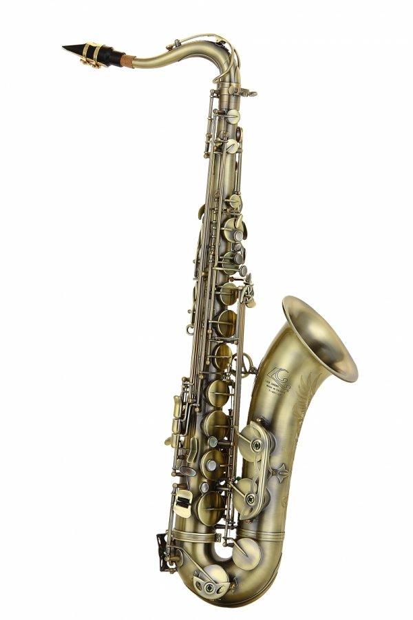 Saksofon tenorowy LC Saxophone T-601GF vintage style, dark antique finish