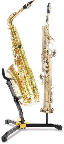 Stojak podwójny do saksofonu altowego/tenorowego i sopranowego Hercules DS533BB