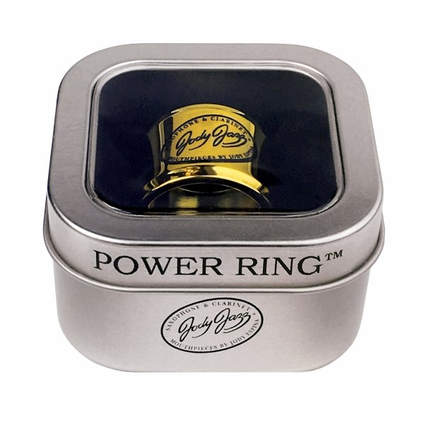 Ligaturka do saksofonu altowego JodyJazz Power Ring pozłacana 24k