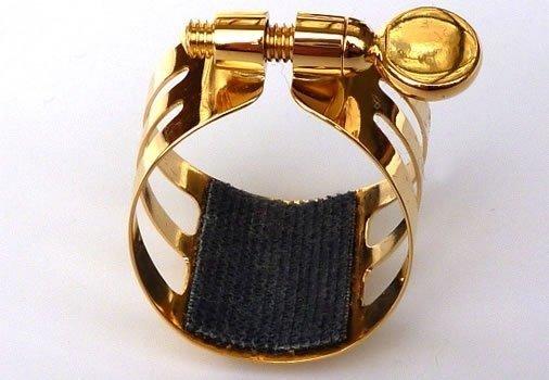 Ligaturka do saksofonu altowego Ligaphone CL.AS Gold-lacquered