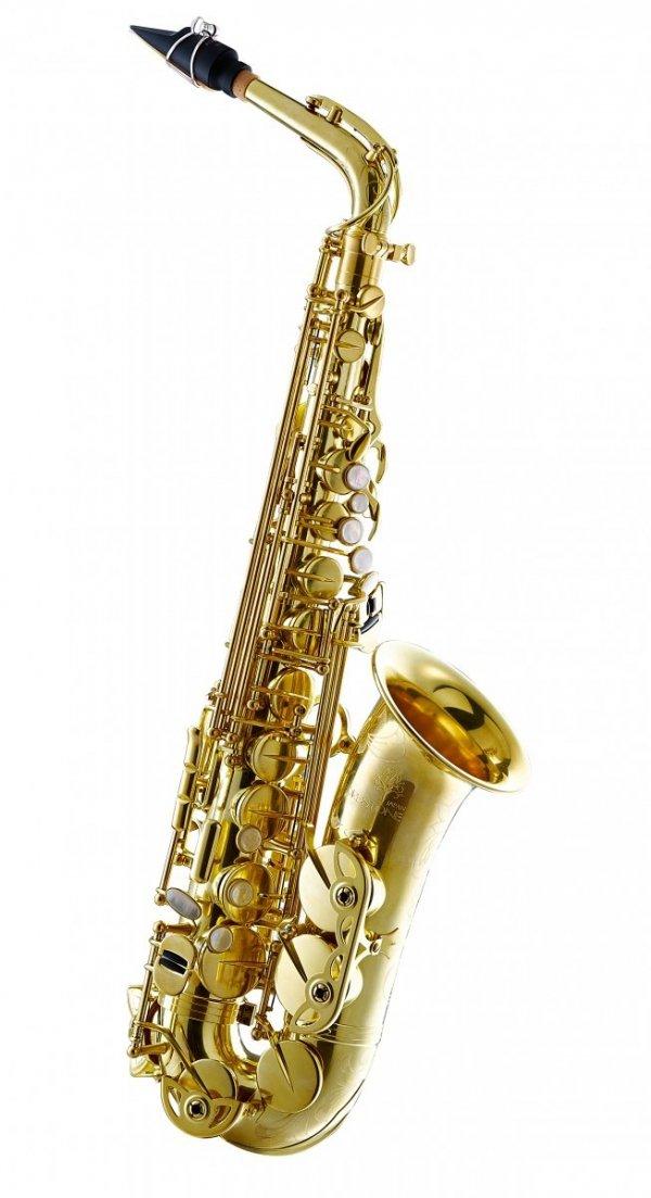 Saksofon altowy Forestone bez lakieru, zdobiony, rolled tone holes