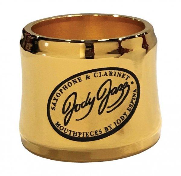 Ligaturka do saksofonu tenorowego JodyJazz Power Ring pozłacana 24k