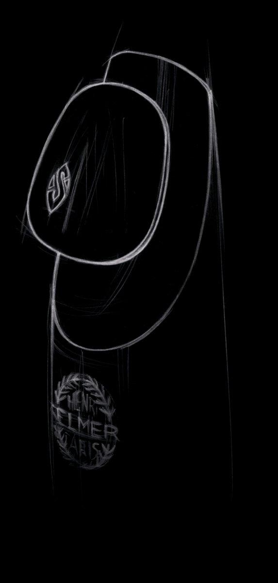 Naklejki na ustnik Henri Selmer Paris (0.35 mm, srebrne logo)