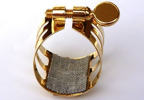 Ligaturka do saksofonu altowego Ligaphone CL.AS Gold-plated
