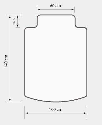 Mata ochronna ergonomiczny kształt (100x140 cm) EXTRAGRUBA