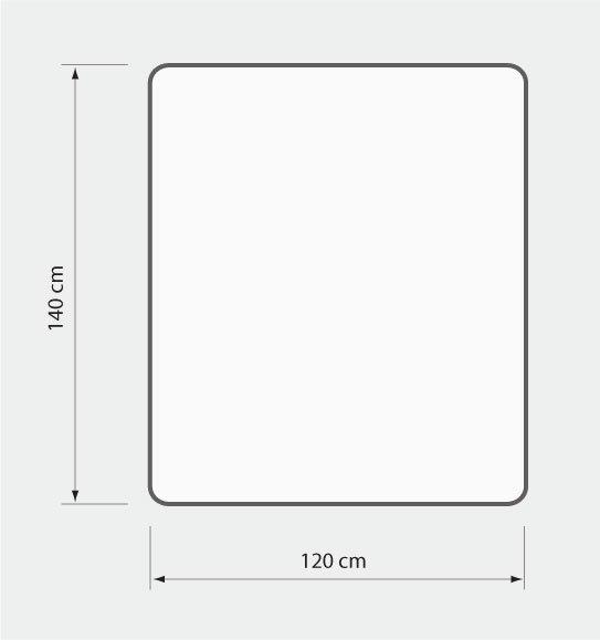Mata ochronna krystaliczna z poliwęglanu (120x140 cm) EXTRAGRUBA