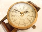 Zegar stojący CLK-0553S - wykończenie skóra