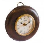 Zegar wiszący CLK-0155, wykończenie skóra