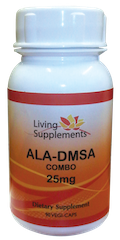 ALA/DMSA COMBO 25 mg  = kwas alfa liponowy ALA 25 mg + kwas dimerkaptobursztynowy DMSA 25 mg  - 90 kapsułek