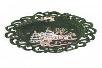 Obrus Świąteczny Boże Narodzenie wz. 274, rozmiar 40cm (koło) Kolor: zielony