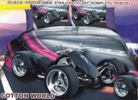 Pościel Mikrowłókno 3D MOTO roz. 160x200 lub 140x200wz. FPW 151