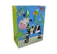 Ozdobne opakowanie, torebka na prezent 20x25 wz. Torba sezonowa Krowy